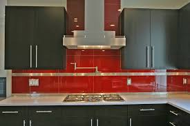 kitchen cool simple red glass backsplash for appealing amazing