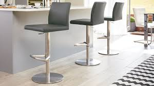 grey kitchen bar stools charming grey bar stools at brushed stainless steel kitchen danetti