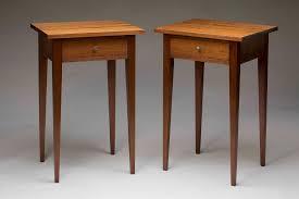 Bed Side Desk Shaker Bedside Tables Fedarko Furniture U0026 Design