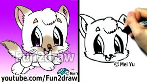how to draw a cat learn to draw cute drawings fun2draw youtube