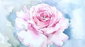lvl4 watercolor tutorial how to paint a rose wet on wet youtube