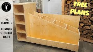 the ultimate lumber storage cart free plans youtube