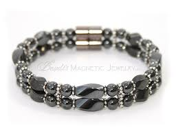 bracelet with magnetic images Magnetic hematite twists with pewter and 2 therapeutic magnetic jpg
