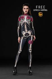Skeleton Woman Halloween Costume Skeleton Glam Halloween Costume Body Skeleton