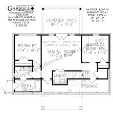 Rustic Cabin Floor Plans by Annalise Cottage House Plan Cabin House Plans