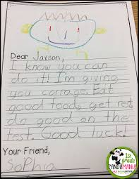 writing paper 3rd grade 1st grade pandamania encouraging words for the big kids taking tests our amazing pbis committee thought to have our k 2 students write letters of encouragement to our 3rd 5th graders who will be taking their big tests for the