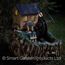 smart solar water mill with light solar water