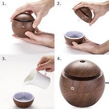 Amazon Oil Diffuser by Amazon Com Classic Dark Wood Mist Humidifier Aroma Diffuser 6