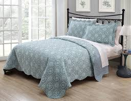 Ideas Aqua Bedding Sets Design 3 Saira Aqua Blue Quilt Set
