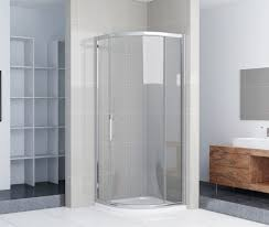 Bathroom Shower Trays by 1000x1000mm Quadrant Shower Enclosure Single Door Stone Tray
