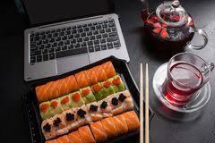 cuisine concept food photo sushi rolls japanese cuisine concept stock photo image