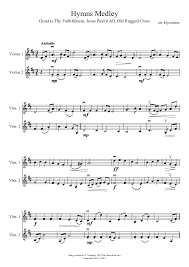 Old Rugged Cross Music Hymns Medley Musescore