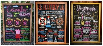 birthday boards the most amazing birthday chalkboards made with cedar markers