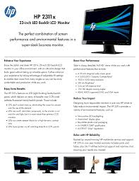 download free pdf for hp 2311x monitor manual