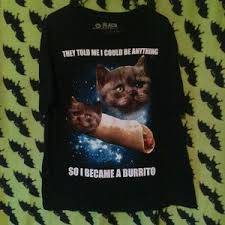 Burrito Meme - 75 off hot topic other cat burrito meme t shirt from zach s