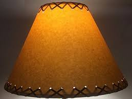 14 inch rustic laced lamp shade click on photos to view sizing