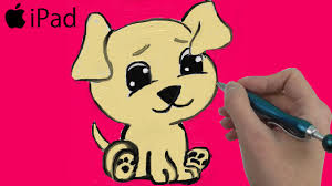 cute puppy coloring page for kids to learn colors painting for