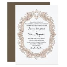 henna invitation henna wedding invitations announcements zazzle