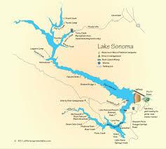 sonoma california map lake sonoma cing and boating map