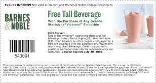Barnes And Noble Redeem Starbucks Coupon At Barnes And Noble Sensible Saving