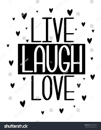 live laugh love slogan print design stock vector 618008102