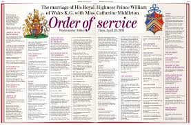 royal wedding order of service princess diana funeral hymn to be