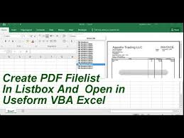 create pdf playllst in userform and open pdf file excel vba youtube