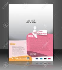 maternity hospital flyer u0026 poster template design royalty free