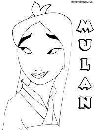mulan coloring pages coloring pages download print