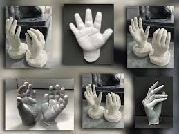halloween ceramic molds how to make a cast of your hand youtube