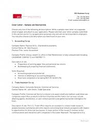 cover letter accounting job cover letter