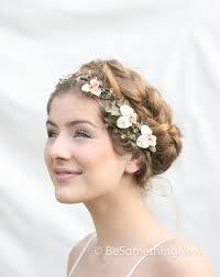 hair wreath woodland wedding hair wreath with vintage velvet pansies wedding