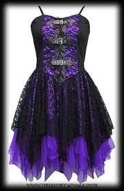 Dark Star Gothic Black U0026 Purple Lace Corset Dress Ds Dr 21p