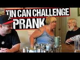 The Challenge Kidbehindacamera Angry The Tin Can Challenge Prank