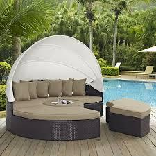 amazon com modway convene canopy outdoor patio daybed espresso