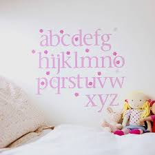 pink polka alphabet wall stickers upper and lower case by pink polka alphabet wall stickers upper and lower case