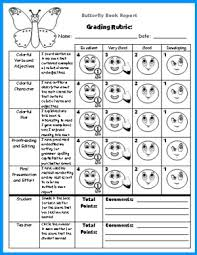 butterfly book report projects templates worksheets rubric and