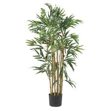 nearly natural 7 ft large bamboo silk tree 5191 the home depot