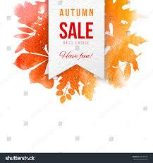 sale paper emblem background watercolor stock vector
