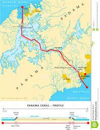 Ocean Lakes Map Panama Canal Political Map Stock Vector Image 41342017