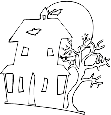 halloween coloring pages haunted house coloring page applique
