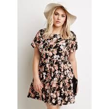 forever 21 plus women u0027s plus size floral print babydoll dress