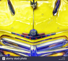 vauxhall yellow yellow classic 1950 u0027s vauxhall velox stock photo royalty free