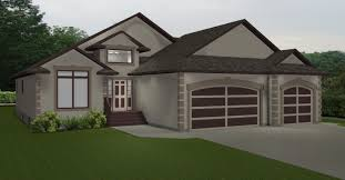 collections of house plans with 3 car attached garage free home