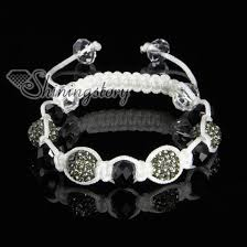 cord macrame bracelet images Rhinestone and crystal beads macrame bracelets white cord wholesale jpg
