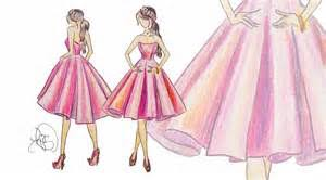 fashion sketches long dresses with corsets outlook