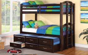 Twin Bunk Bed With Desk And Drawers Acamar Twin Over Twin Bunk Bed W Bottom Twin Captain Bed Xiorex