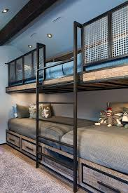 Industrial Bunk Beds Industrial Loft Bed Built In Bunk Beds For A Rustic With A