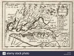 Maryland Virginia Map by Antique Map Virginia And Maryland By Petrus Kaerius 1646 From John