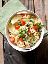 Simple Pasta Salad Recipe Vegan Lemon Basil Orzo Pasta Salad Recipe My California Roots